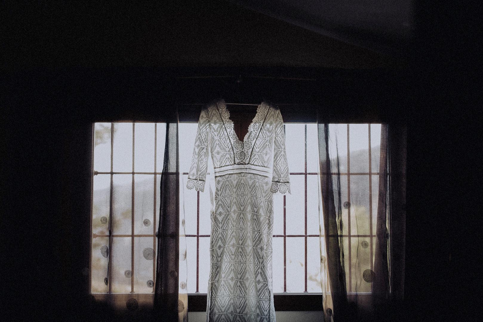 vestido de novia original encaje
